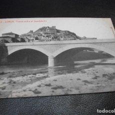 Postales: TARJETA POSTAL DE LORCA MURCIA - PUENTE SOBRE EL GUADALENTIN Nº 3 THOMAS LUIS MONTIEL. Lote 195466707