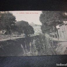 Postales: TARJETA POSTAL DE LORCA MURCIA - PASEO DE SAN DIEGO Nº 6 THOMAS LUIS MONTIEL. Lote 195466788