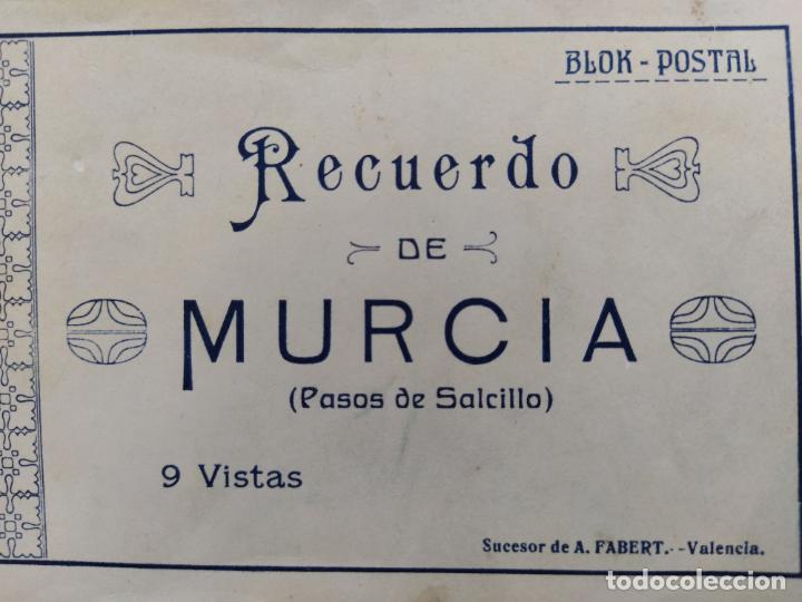 Postales: MURCIA-PASOS DE SALCILLO-BLOC CON 9 POSTALES-SUCESOR DE A.FABERT-VER FOTOS-(68.541) - Foto 2 - 196216147