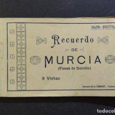 Postales: MURCIA-PASOS DE SALCILLO-BLOC CON 9 POSTALES-SUCESOR DE A.FABERT-VER FOTOS-(68.541). Lote 196216147