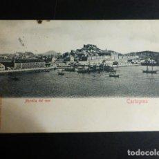 Postales: CARTAGENA MURCIA MURALLA DEL MAR REVERSO SIN DIVIDIR. Lote 196230321