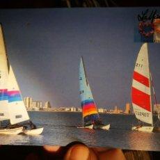 Cartes Postales: POSTAL LA MANGA REGATA DE CATAMARANES N 10 COLECCIÓN CORAZONES JUAN CASTELLS. Lote 197961578