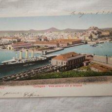 Postales: POSTAL ANTIGUA DE CARTAGENA, VISTA GENERAL CON EL ARSENAL.. Lote 199499948