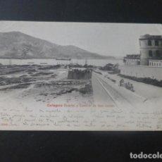 Postales: CARTAGENA MURCIA CUARTEL Y CASTILLO DE SAN JULIAN. Lote 205023326