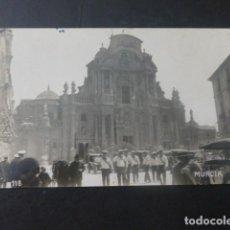 Postales: MURCIA SOLDADOS MARINA DE GUERRA ALEMANA EN LA CATEDRAL POSTAL FOTOGRAFICA AÑOS 20. Lote 205098460