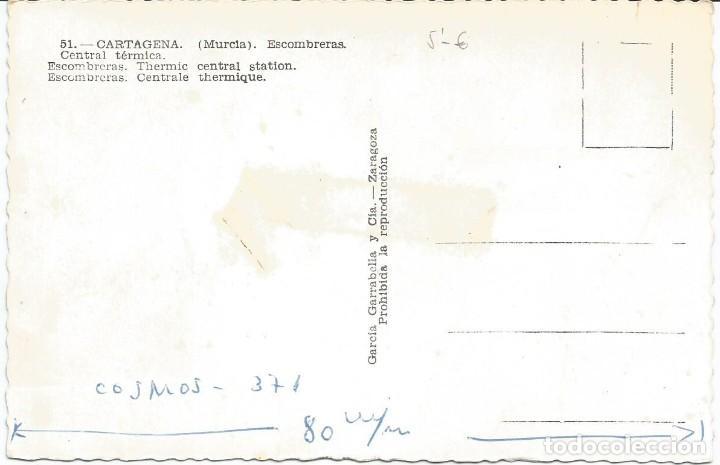 Postales: CARTAGENA. CENTRAL TERMICA DE ESCOMBRERAS. Gª GARABELLA Nº 51 - Foto 2 - 205601336