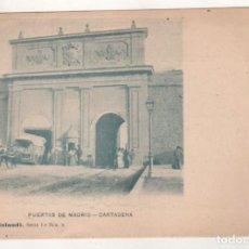Postales: PUERTAS DE MADRID. CARTAGENA. COLECCIÓN ROLANDI. SERIE 1ª NUM 9. REVERSO SIN DIVIDIR.. Lote 205651952