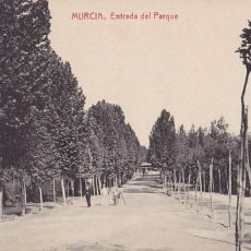 Postales: MURCIA ENTRADA DEL PARQUE. EDICION FOTOTIPIA THOMAS Nº 7491 SIN CIRCULAR. Lote 205847438
