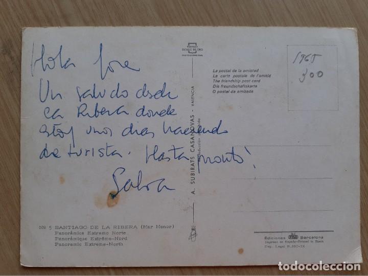 Postales: TARJETA POSTAL - 1965 SANTIAGO DE LA RIBERA MAR MENOR - PANORAMICA EXTREMO NORTE 5 - Foto 2 - 206123330