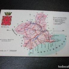 Postales: TARJETA POSTAL DE MURCIA MAPA. Lote 206261890