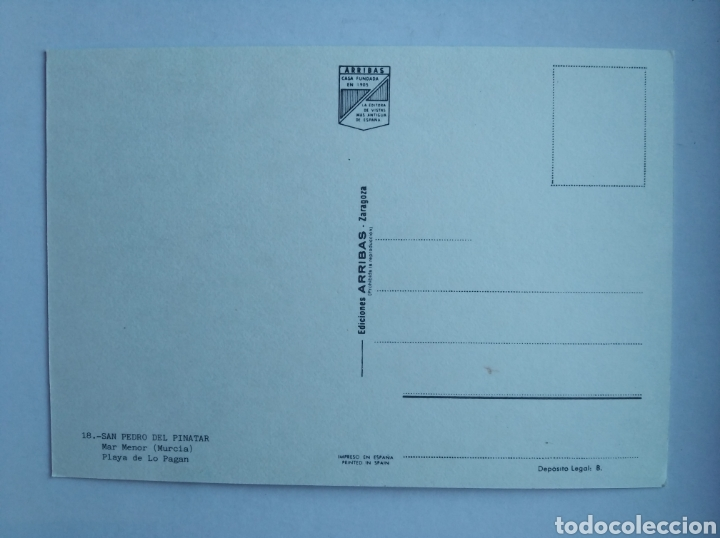 Postales: Postal 18 San pedro del pinatar mar menor murcia ed arribas - Foto 2 - 206329862