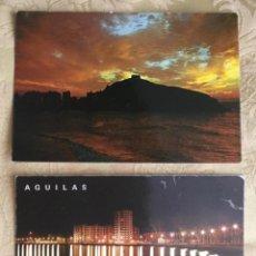 Postales: 2 POSTALES NOCTURNAS DE AGULAS, MURCIA AÑOS 60. Lote 207091516