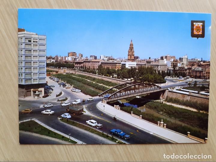 TARJETA POSTAL - MURCIA - PUENTE DE HIERRO SOBRE EL SEGURA № 134 (Postales - España - Murcia Moderna (desde 1.940))