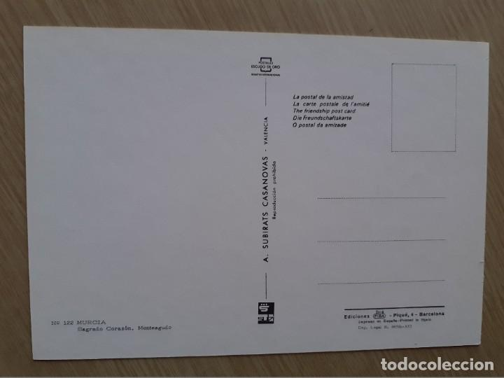 Postales: TARJETA POSTAL - MURCIA - SAGRADO CORAZON MONTEAGUDO № 122 - Foto 2 - 207098968