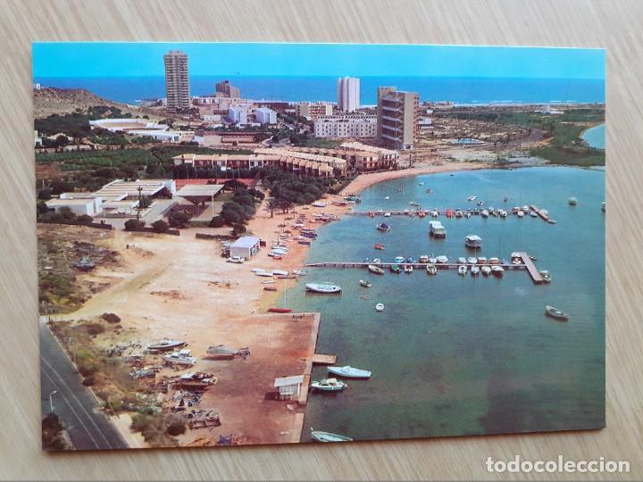 TARJETA POSTAL - LA MANGA DEL MAR MENOR - VISTA AEREA № 38 - BARCOS (Postales - España - Murcia Moderna (desde 1.940))