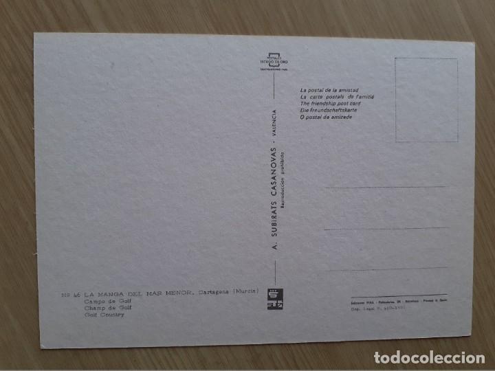 Postales: TARJETA POSTAL - CARTAGENA LA MANGA DEL MAR MENOR - CAMPO DE GOLF № 46 - Foto 2 - 207100513