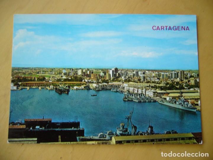 CARTAGENA (MURCIA) - PUERTO Y VISTA PARCIAL (Postales - España - Murcia Moderna (desde 1.940))