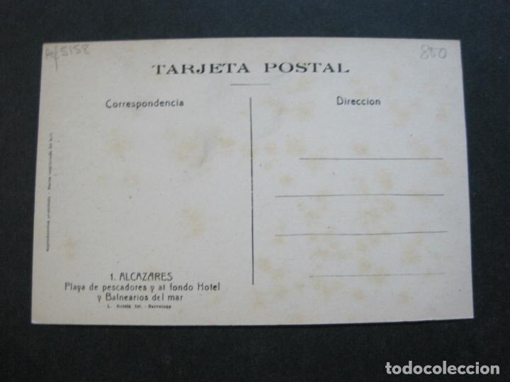 Postales: ALCAZARES-PLAYA DE PESCADORES Y AL FONDO HOTEL Y BALNEARIOS DEL MAR-ROISIN-1-POSTAL ANTIGUA-(71.382) - Foto 3 - 207872230