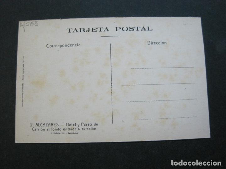 Postales: ALCAZARES-HOTEL Y PASEO DE CARRION-ROISIN-3-POSTAL ANTIGUA-(71.384) - Foto 3 - 207872411