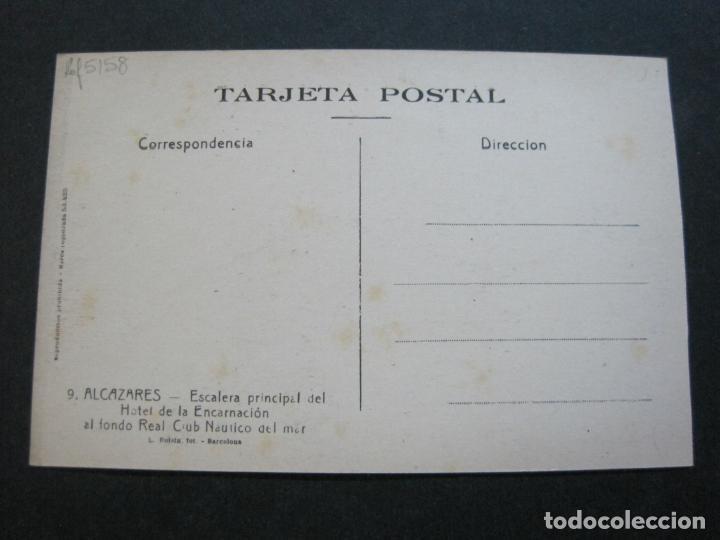 Postales: ALCAZARES-ESCALERA PRINCIPAL HOTEL ENCARNACION-ROISIN-9-POSTAL ANTIGUA-(71.387) - Foto 3 - 207872645