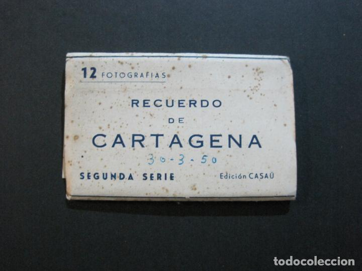 CARTAGENA-MINI BLOC CON 12 VISTAS FOTOGRAFICAS-EDICION CASAU-VER FOTOS-(V-20.624) (Postales - España - Murcia Antigua (hasta 1.939))