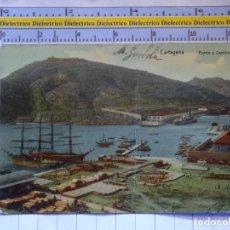 Cartes Postales: POSTAL DE MURCIA. AÑOS 10 30 CARTAGENA PUERTO Y CASTILLO DE GALERAS. FECHADA EN 1911. 617. Lote 209062516