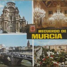 Postales: POSTAL N°93 RECUERDO DE MURCIA DIVERSOS ASPECTOS. Lote 210076493