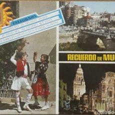 Postales: POSTAL N°91 RECUERDO DE MURCIA DIVERSOS ASPECTOS. Lote 210076640