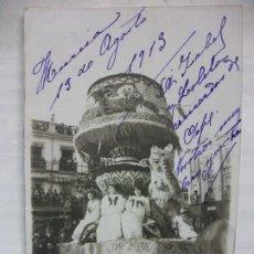 Postales: TARJETA POSTAL FOTOGRAFICA DE MURCIA 1913 FOTO MATEO - CARROZA 1. Lote 210953630