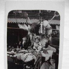 Postales: TARJETA POSTAL FOTOGRAFICA DE MURCIA AÑOS 10 - CARROZA 4 NIÑOS. Lote 210954609