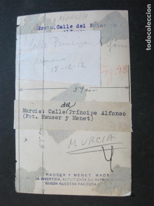 Postales: MURCIA-CALLE DEL PRINCIPE ALFONSO-ARCHIVO FOTOGRAFICA HAUSER Y MENET-POSTAL ANTIGUA-(72.695) - Foto 4 - 210957625