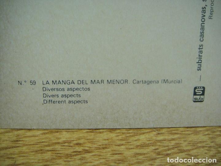 Postales: la manga del mar menor - ediciones subirats - no franqueada - Foto 2 - 211463726