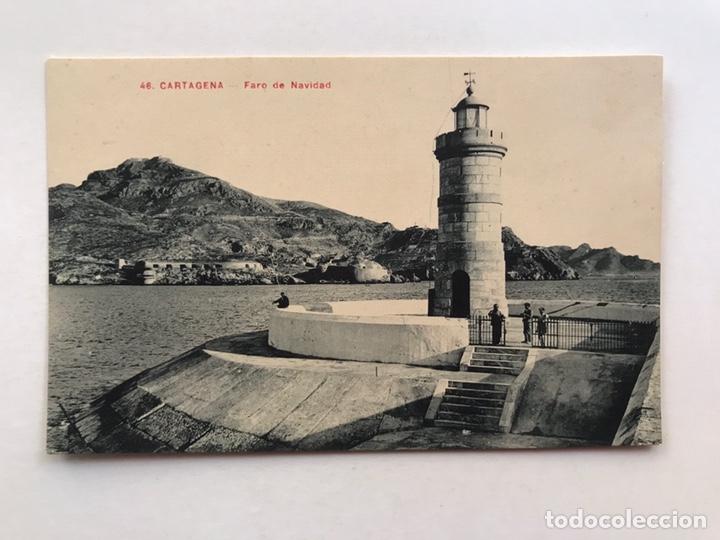 CARTAGENA POSTAL ANIMADA NO.46, FARO DE NAVIDAD. ANDRÉS FABERT EDITOR, VALENCIA (H.1930?) S/C (Postales - España - Murcia Antigua (hasta 1.939))