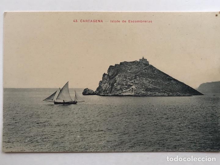 CARTAGENA POSTAL ANIMADA NO.43, ISLOTE DE ESCOMBRERAS, ANDRÉS FABERT EDITOR, VALENCIA (H.1930?) (Postales - España - Murcia Antigua (hasta 1.939))