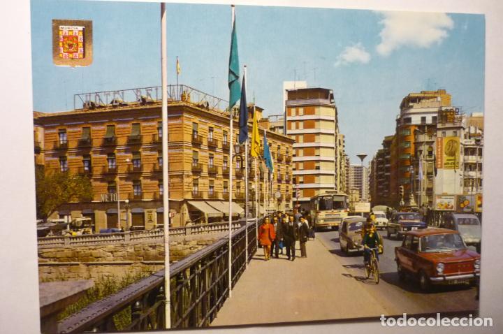 POSTAL MURCIA.- VISTA DESDE PUENTE NUEVO - COCHES (Postales - España - Murcia Moderna (desde 1.940))