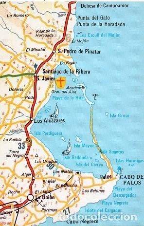 MAPA DEL MAR MENOR - 2 (Postales - España - Murcia Moderna (desde 1.940))
