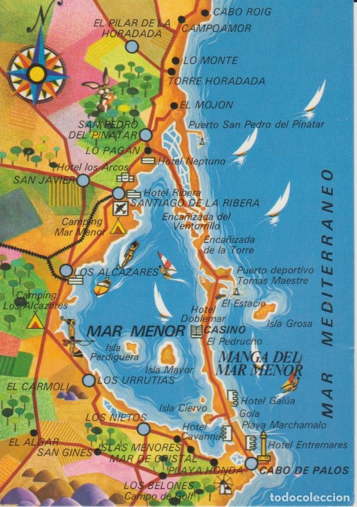 (3010) MAR MENOR. MURCIA. MAPA (Postales - España - Murcia Moderna (desde 1.940))