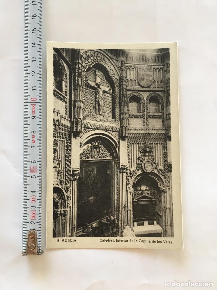 POSTAL. MURCIA. CATEDRAL. INTERIOR CAPILLA DE LOS VÉLEZ. EDICION SUCESORES DE NOGUES. (Postales - España - Murcia Moderna (desde 1.940))