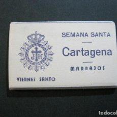 Postales: CARTAGENA-SEMANA SANTA-MARRAJOS-VIERNES SANTO-MINI BLOC CON 12 FOTOGRAFIAS-VER FOTOS-(V-21.795). Lote 214857690