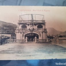 Cartes Postales: ANTIGUA POSTAL REAL CLUB DE REGATAS CARTAGENA MURCIA 1922. Lote 217443720