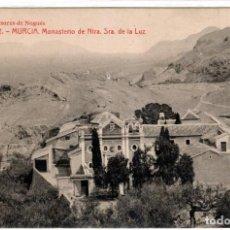Postales: BONITA POSTAL - MURCIA - MONASTERIO DE NTRA. SRA. DE LA LUZ - SUCESORES DE NOGUÉS. Lote 217879556
