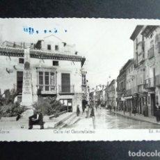 Postales: POSTAL LORCA. CALLE DEL GENERALÍSIMO. ED. ARRIBAS.. Lote 217998373