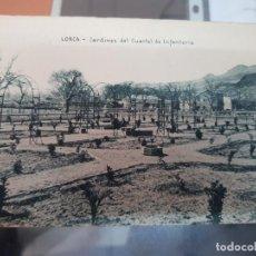 Postales: ANTIGUA POSTAL JARDINES DEL CUARTEL DE INFANTERIA LORCA MURCIA EDICION MONTIEL. Lote 218370827