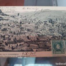 Postales: ANTIGUA POSTAL LORCA MURCIA VISTA PANORAMICA DIARIO DE AVISOS 1908. Lote 218371417