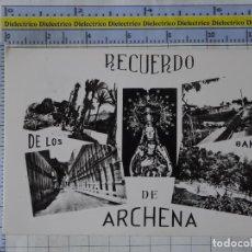 Cartes Postales: POSTAL DE MURCIA. AÑOS 30 50. RECUERDO DE LOS BAÑOS DE ARCHENA. CASA AZÚCAR. 3088. Lote 218937968