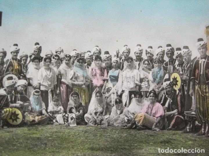 CARAVACA DE LA CRUZ-KABILA DRAGONES ROJOS-BANDO MORO-FOTO MORENILLA-POSTAL ANTIGUA-(74.194) (Postales - España - Murcia Antigua (hasta 1.939))