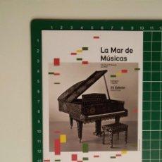 Postales: POSTAL SIN USO - AYUNTAMIENTO DE CARTAGENA - LA MAR DE MUSICAS 2019 - PIANO. Lote 221593411
