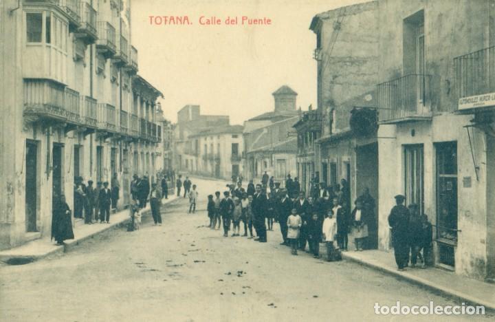 TOTANA CALLE DEL PUENTE. FOTOTIPIA THOMAS. HACIA 1910. PIEZA MUY RARA. (Postales - España - Murcia Antigua (hasta 1.939))