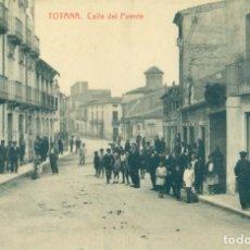 Postales: TOTANA CALLE DEL PUENTE. FOTOTIPIA THOMAS. HACIA 1910. PIEZA MUY RARA.. Lote 221667527