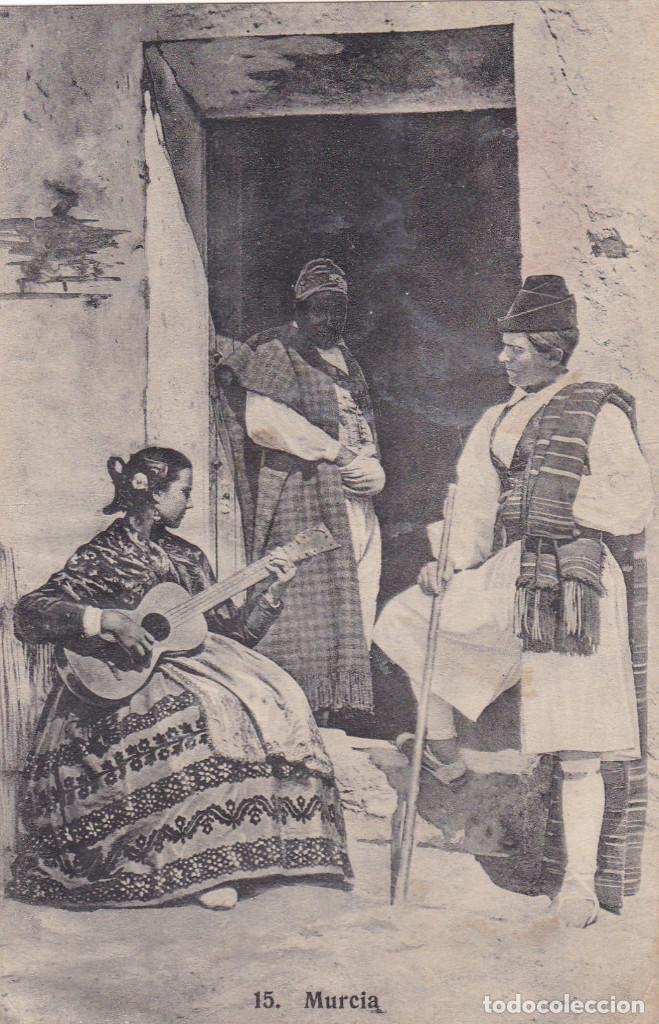 MURCIA TIPOS. ED. FOTO LACOSTE Nº 15. CIRCULADA EN 1914 (Postales - España - Murcia Antigua (hasta 1.939))